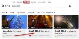 Lire Youtube sans pub avec Bing